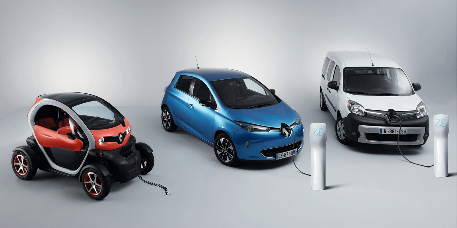 electric renault zoe twizy and kangoo