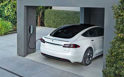 Tesla electric car charger home